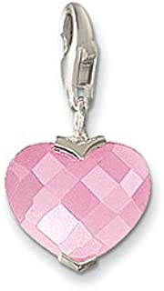 Thomas Sabo Heart Pink Charm, Sterling Silver