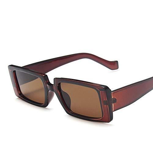 NJJX Gafas De Sol De Diseñador De Marca De Lujo Para Mujer Gafas De Sol Con Montura Pequeña Y Estrecha Mujeres Hombres Gafas De Sol Retro Gafas De Sol Uv Darkteatea