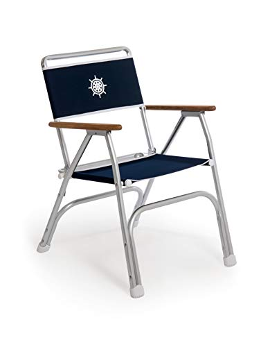 FORMA MARINE Deck Chair, Navy Blue Boat Chair