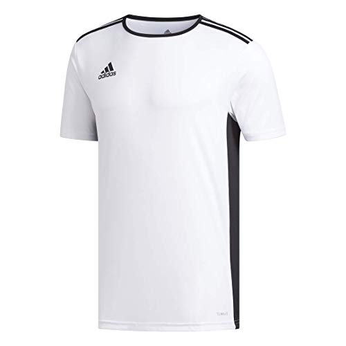 adidas Men's Soccer Entrada 18 Jersey, White/Black, Small