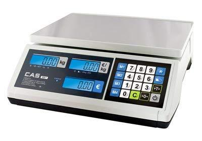 Báscula de peso homologada para la venta con pilas y batería – 6/15 kg – 2/5 g – Carga mínima 40 g.