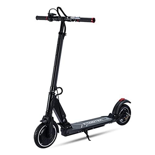 QUNHU Scooter eléctrico Adulto, Scooter de Patadas con Altura Ajustable Dual suspensión y Correa de Hombro 8 Pulgadas Ruedas Grandes Scooter Smooth Ride Vespa de cercanías