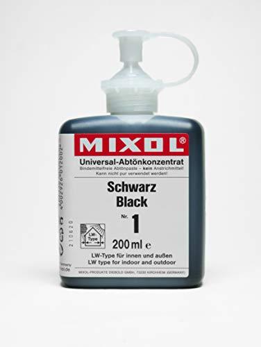 Mixol 4002926012002 Abtönpaste, Schwarz 200 ml