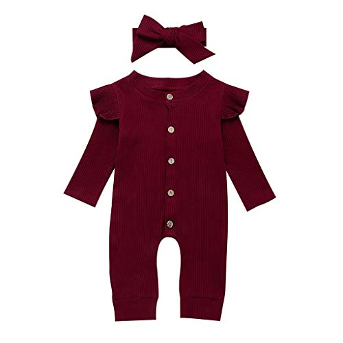 LEXUPE Jacke Baby Kapuzenmantel Frühling Coat Herbst Mäntel Kind Winterjacke Mantel Unisex Kapuzejacke Kleinkinder Steppjacke Mädchen Outerwear mit Kapuze(Rot,70)