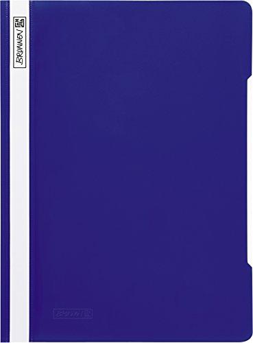 Brunnen 102011030 Schnellhefter (A4, aus PVC, glasklares Deckblatt) blau