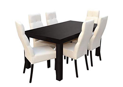 Mirjan24 Esstisch Stuhl Set RB47 Essgruppe, Tischgruppe, Sitzgruppe Esstischgruppe, Esszimmergarnitur (Wenge, Soft 017)