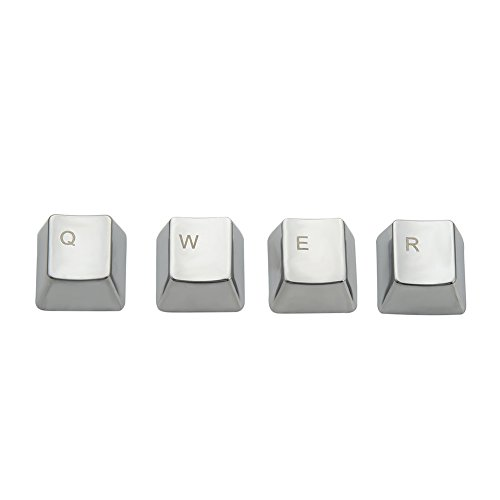 WESAPPINC Metal Keycap QWERASDF 8 Key Cap for Cherry MX Switches and Kailh Switches Mechanical Keyboard Gamer Keycaps Replacement (QWER keycap)