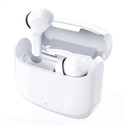 Bluetooth5.1+EDR Bluetooth イヤホン Hi-Fi IPX7防水 完全ワイヤレス イヤホン 自動ペアリング ブルートゥース イヤホン 3Dステレオサウンド 左右分離型 Siri対応 AAC対応 iPhone/iPad/Android適用 (ホワイト)
