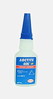 Genuine Henkel Loctite 406 Super Glue - Instant Adhesive - 20g (0.70 Oz) - Ideal for use on Plastic & Rubber