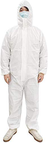 Disposable Coveralls with Hood Protective Suit, Protective Suits Made Up of Non-Woven Fabric, Isolation Suit Disposable
