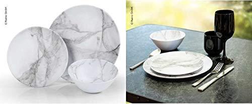 Vajilla de melamina Marmor, 6 piezas, para 2 personas, vajilla de camping (9329917921)