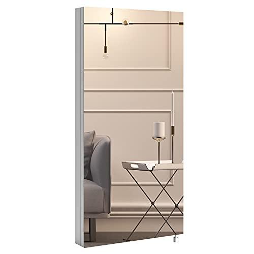 Eck-Spiegelschrank aus Edelstahl Dreieck Wandschrank Eckschrank Medizinschrank Badschrank für Wohnzimmer Badezimmer Balkon Flur 60x30x21cm