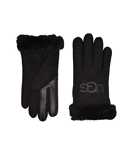 UGG Australia Logo Handschühe Damen, schwarz, L