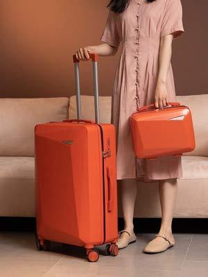 """Mdsfe Bolsos y Maletas con Ruedas Viaje fácil 18/20/24/26/28 Pulgadas de tamañoCapacidad Maleta con Mochila - Juego Naranja, 26"""""""