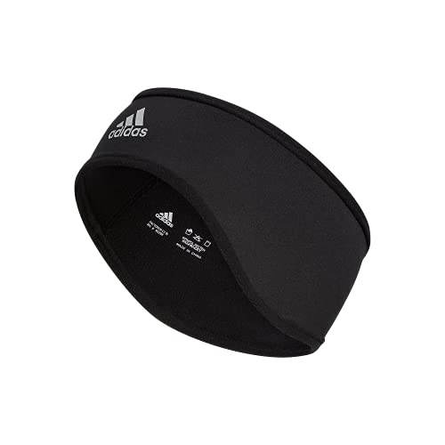 adidas Alphaskin Headband, Black/Silver Reflective, One Size