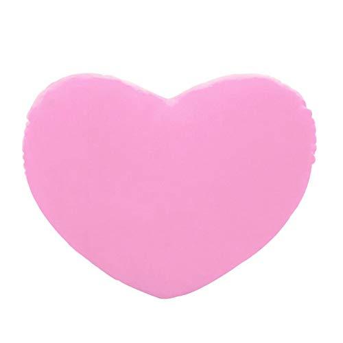 WWWL Juguetes de Peluche Juguete del corazón Suave Peluche Tirar Almohada PP algodón Creativa muñeca 15cm Almohada GAI Pink
