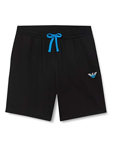 Emporio Armani Underwear Herren Homewear - Iconic Terry Bermuda Shorts, Schwarz (Nero 00020), W(Herstellergröße:L)