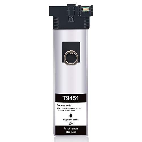 Jagute T9451 Compatibile Cartucce d'inchiostro Sostituzione per Epson T9451 T9452 T9453 T9454 9451 per Epson WorkForce Pro WF-C5210DW WF-C5290DW WF-C5710DWF WF-C5790DWF (Nero)