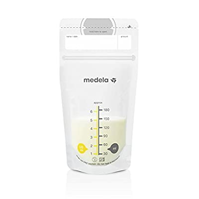 Medela Breast Milk Storage Bags, 25 Count, Ready to Use Breastmilk Bags for Breastfeeding, Self Standing Bag, Space Saving Flat Profile, Hygienically Pre-Sealed, 6 Ounce
