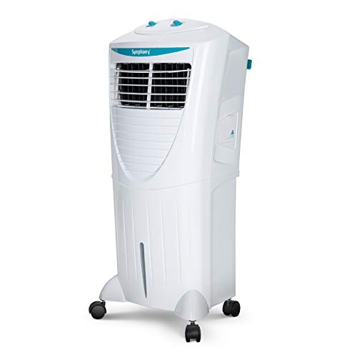 Symphony HiCool 45T Modern Personal Air Cooler 45-litres with Multi-Stage Air Purification, Honeycomb Pad, Dura-Pump Technology, Auto Swing & Low Power Consumption (White)