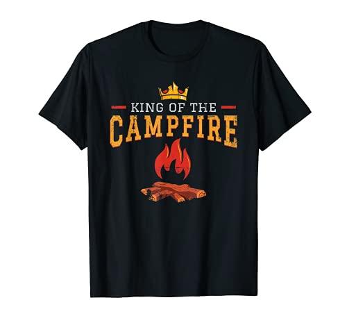 Divertida camiseta del rey de la fogata para el regalo al aire libre del camper Camiseta