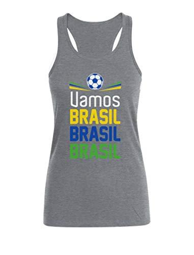 Camiseta sin Mangas para Mujer - Apoya a la selección Brasil en el Mundial 2018!