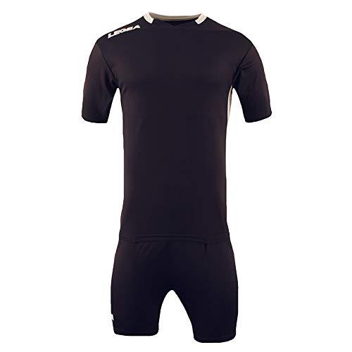 Completo uomo mezza manica e pantaloncino monaco tuta running sportivo calcio colori nero/bianco e azzurro/bianco taglia da specificare con email (taglie disponibili M - L - XL - XXL) 100% poliestere