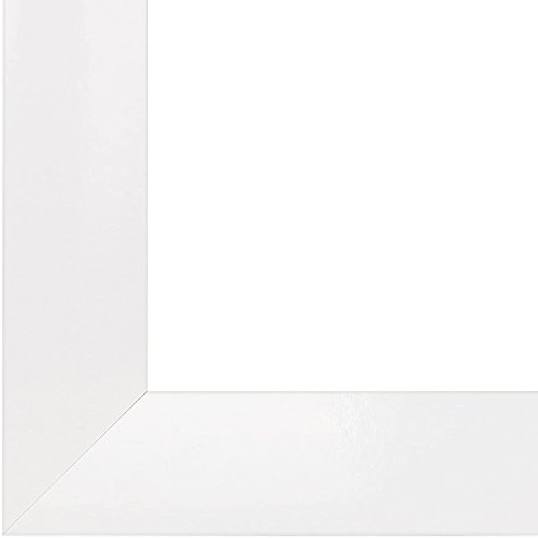 Olimp Bilderrahmen 35x160 oder 160x35 cm in Weiss AntiReflex Kunstglas und Rückwand, 35 mm breite MDF-Leiste mit Dekor Folienummantelung