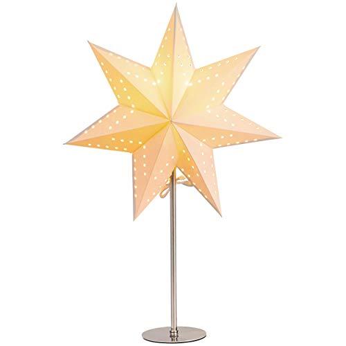 Standleuchte Stern, creme   Papierstern   Weihnachtsstern   Weihnachtsstern   Lampe   Dekostern   Fensterdeko