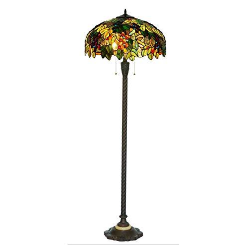 XinQing Lámpara de pie Lámpara de Estilo Americano para Sala de Estar Lámpara de Arte Hecha a Mano