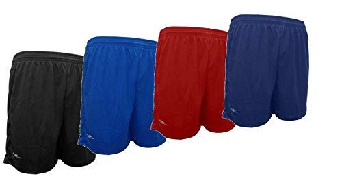 Kit 4 shorts masculino Elite academia 38 ao 64 (Preto/Royal//Marinho/Vermelho, M (38/40))