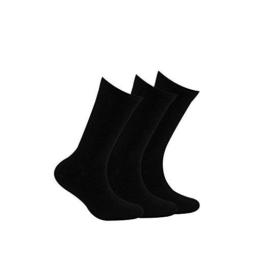 Kindy Pack 3Paar Socken Vereinten Jersey Gr. 31 cm-35 cm, schwarz