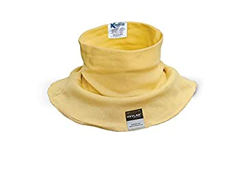 KEZZLED Welding Neck Protector- Cut Scratch Heat Resistant Neck Protection Neck Gaiter- Made of 100% Kevlar by DuPont with added UV Rays Sun Cooling Protection for Men & Women  Yellow
