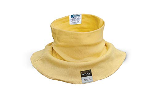 KEZZLED Welding Neck Protector- Cut, Scratch, Heat Resistant Neck Protection, Neck Gaiter- Made of 100% Kevlar by DuPont with added UV Rays, Sun, Cooling Protection for Men & Women (Yellow)