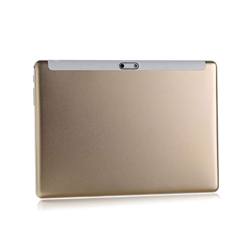 LORIEL Tablet PC De 10 Pulgadas, 4G HD Call + WiFi Acceso A Internet/Navegación GPS / 1920 * 1200 IPS Pantalla Grande para Android, para Niños para Niños/Trabajadores De Oficina,Oro,3GB+64GB