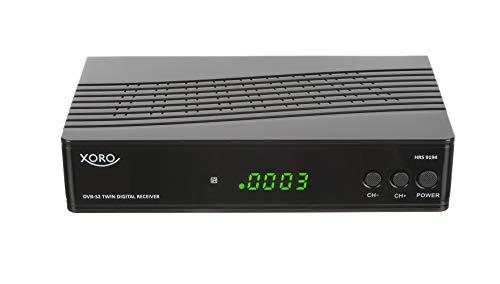 Xoro HRS 9194 Twin Receiver (DVB-S2, HDTV PVR Ready, USB 2.0, FTA, LAN, 12Volt) schwarz