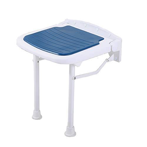 Opvouwbare douchestoel met poten, aan de muur gemonteerde douchestoel, opklapbare douchestoel met rubberen voetenbadkruk voor zwemmen, ouderen, gehandicapten en beperkte mobiliteit A