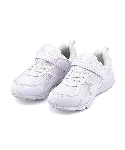 [チャーキーズ] 女の子 男の子 キッズ 子供靴 運動靴 通学靴 ランニングシューズ スニーカー 反射材 白 クッション性 抗菌 防臭 撥水 雨 雪 靴 カジュアル デイリー スポーツ スクール 学校 2533 ホワイト 20.0cm