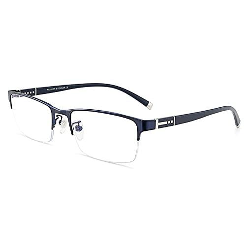 Gafas De Lectura De Bloqueo De Luz Azul Para Hombre, Filtro De Luz Anti Azul Con Lente Transparente Presbicia Hiperopía Magnificador Gafas Ópticas