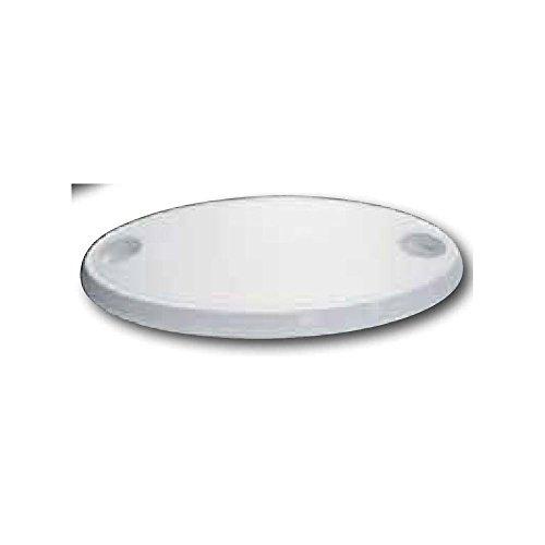 Table ovale en ASA, 76X45X4cm, couleur blanche