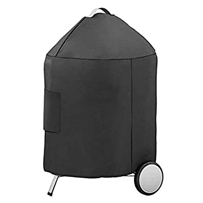 Uniflasy Grill Cover for Weber 22 inch Premium Charcoal Grills, Heavy Duty Waterproof Kettle Grill Parts, Charcoal BBQ Cover Fit Weber 7150