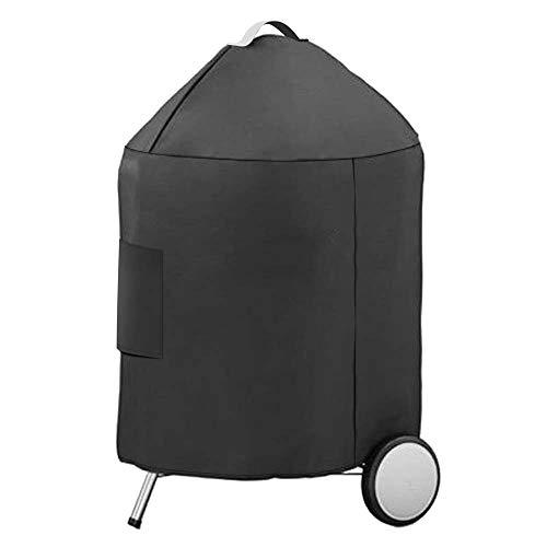 Denmay Housse de Gril Protection imperméable en Polyester 600D pour Barbecue Weber (Housse de Gril pour Weber 57CM)