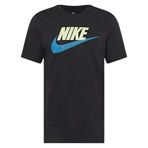 NIKE DB6523-010 M NSW tee ALT Brand Mark 12MO T-Shirt Mens Black/(lt Photo Blue) S