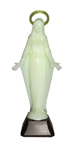 Ferrari & Arrighetti Estatua de la Virgen Milagrosa fosforescente - 10 cm