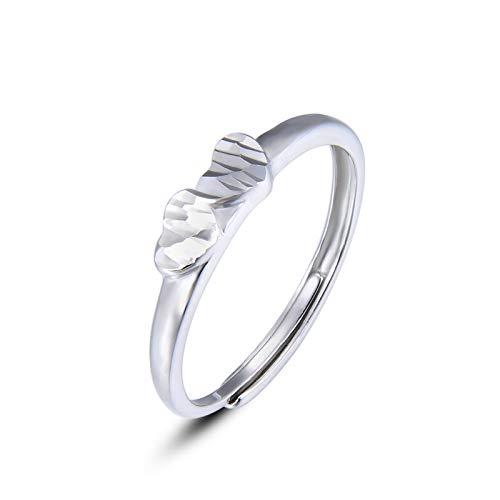 WHX DamenRingeEdelstahl,S925 Sterling Silber Ring weiblich offen Zeigefinger Schwanz Schmuck Zubehö