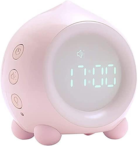 ASDF Reloj Despertador LED Mute Reloj Despertador Mesita de Noche En Forma de melocotn Luz de sueo Creativa Reloj Digital Bluetooth