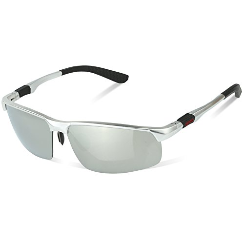 DUCO Gafas de sol polarizadas para hombre, estilo deportivo, para pesca, golf, con marco Al-Mg 8188