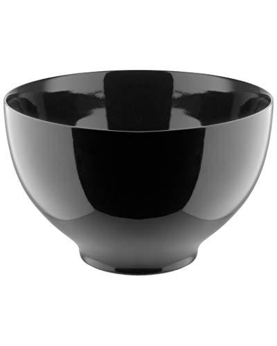 Alessi Tonale DC03/3 B - Bol Design en Céramique Stoneware, 18 cm, Noir Poli