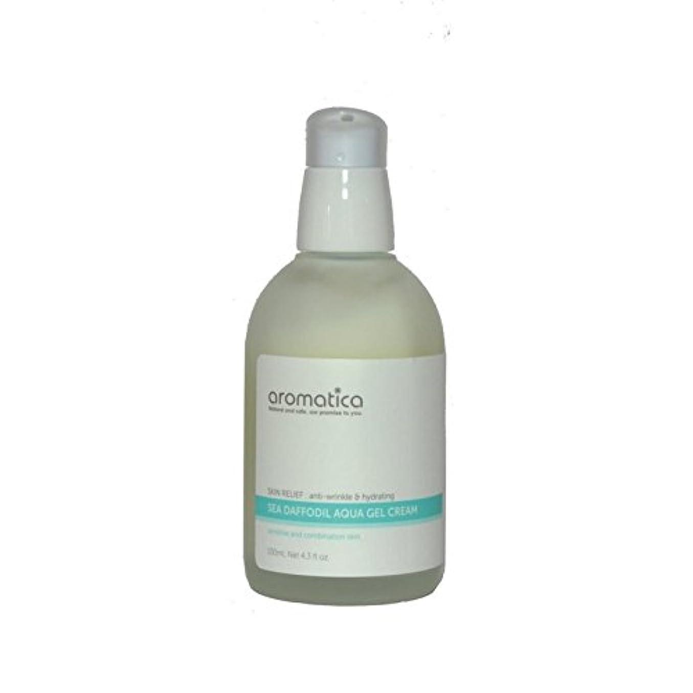助けて不当湿度海水仙アクアゲルクリーム100ミリリットル x4 - aromatica Sea Daffodil Aqua Gel Cream 100ml (Pack of 4) [並行輸入品]