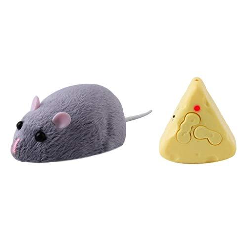 T TOOYFUL Elektrische Fernbedienung Ratte Maus Spielzeug Spielzeugmaus für Katze - Weiß, wie Beschreibung